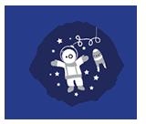 L'astronauta Asilo Nido Montessori Roma Logo